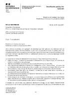 Tests salivaires – message aux Maires et Prsdts EPCI